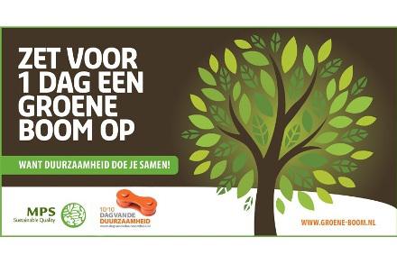 Zet voor 1 dag een groene boom op